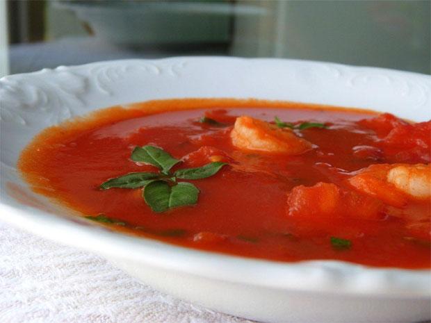 Fota: zupa pomidorowa z krewetka 2